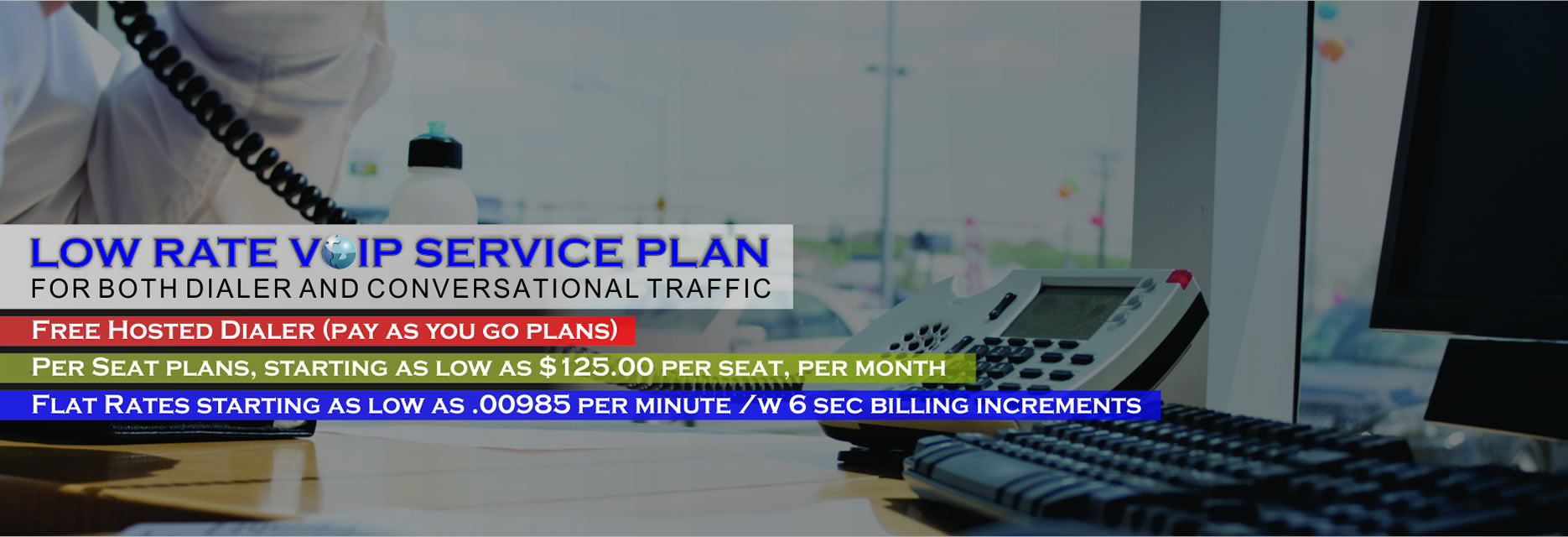 Low Rate VOIP Service Plan